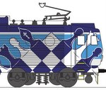 Locomotive with chess motif will roam the track